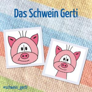 Produktbild Plotterdatei Schwein Gerti