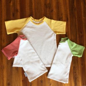 SturKnopf zweifarbiges T-Shirt drei Varianten