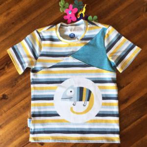 SturKnopf Shirt mit Paneel Echse Front