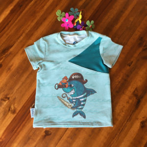 SturKnopf Shirt mit Paneel Hai Front