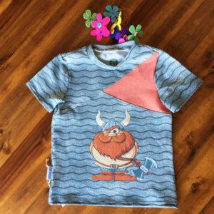 SturKnopf Shirt mit Paneel Pirat Front